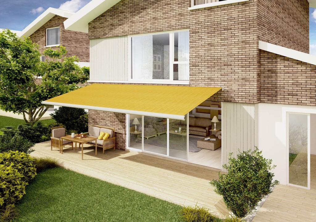 yellow awnings in Kent